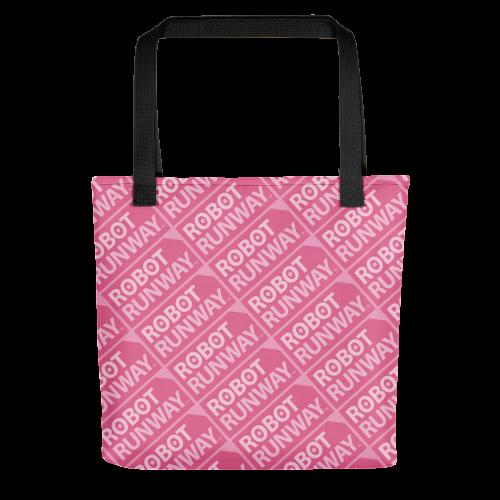 Robot Runway Pink Logo Tote bag