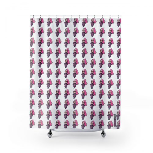 Robot Runway™ LadyBot Shower Curtains