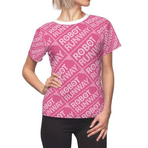 Robot Runway™ Pink Motif Women's Tee