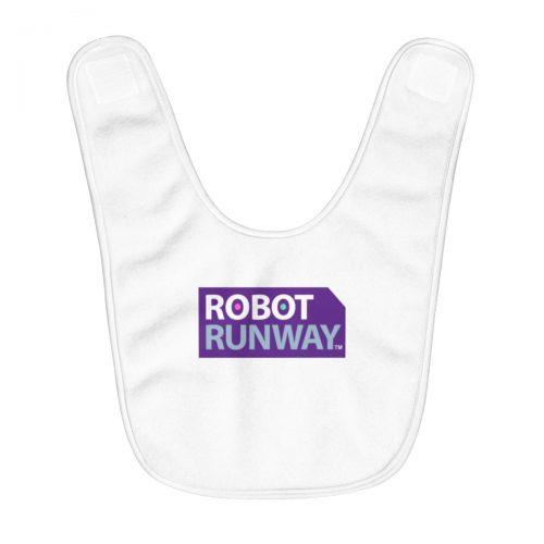 Robot Runway™ Purple Logo Fleece Baby Bib