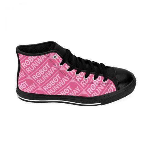 Robot Runway™ Pink Motif Women's High-top Sneakers