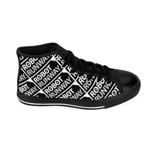 Robot Runway™ Black & White Motif Women's High-top Sneakers