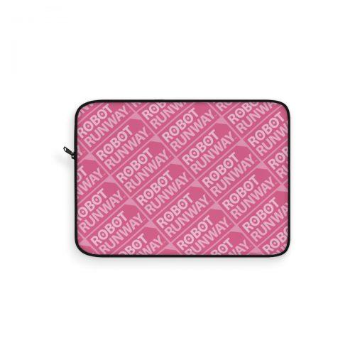 Robot Runway™ Pink Motif Laptop Sleeve