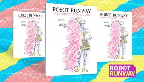 robot runway fashion coloring book