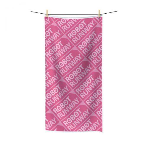 Robot Runway™ Pink Motif Polycotton Towel