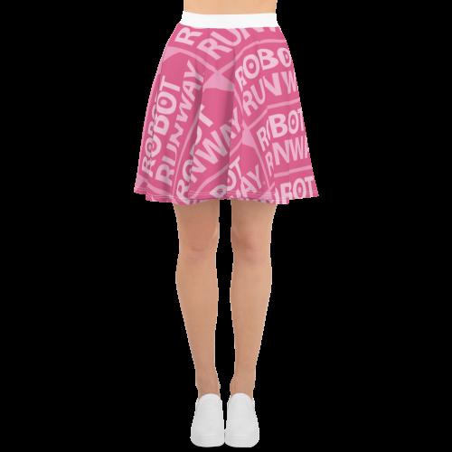 Robot Runway™ Pink Logo Motif Skater Skirt