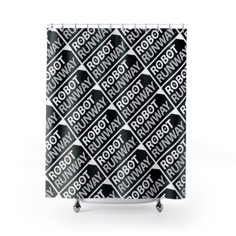 Robot Gifts Ideas - Robot Runway™ Black & White Motif Shower Curtains
