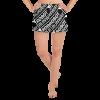 Robot Gifts Ideas - Robot Runway™ Black & White Women's Athletic Short Shorts