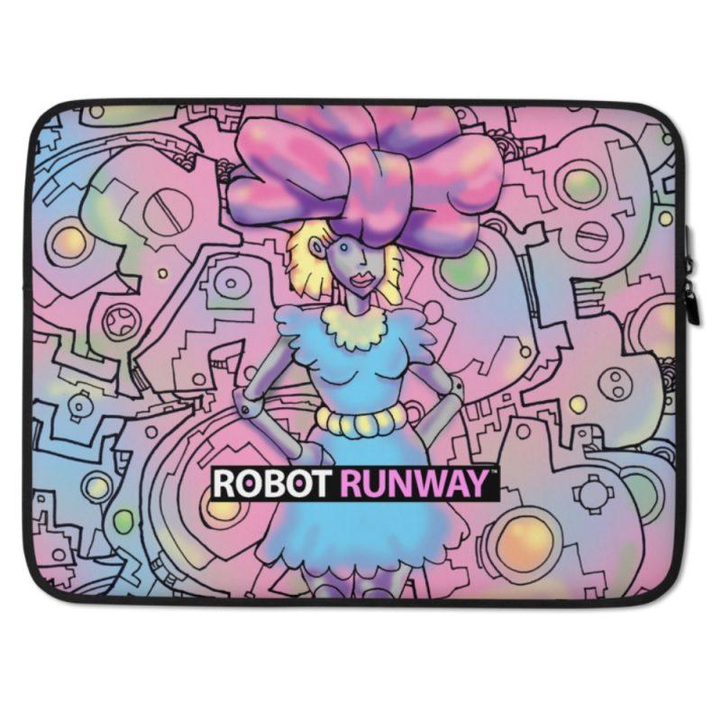 Robot Gifts Ideas - ROBOT RUNWAY BowBot Laptop Sleeve