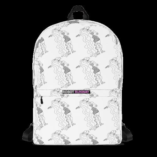 ROBOT RUNWAY Ladybot Black & White Motif Backpack