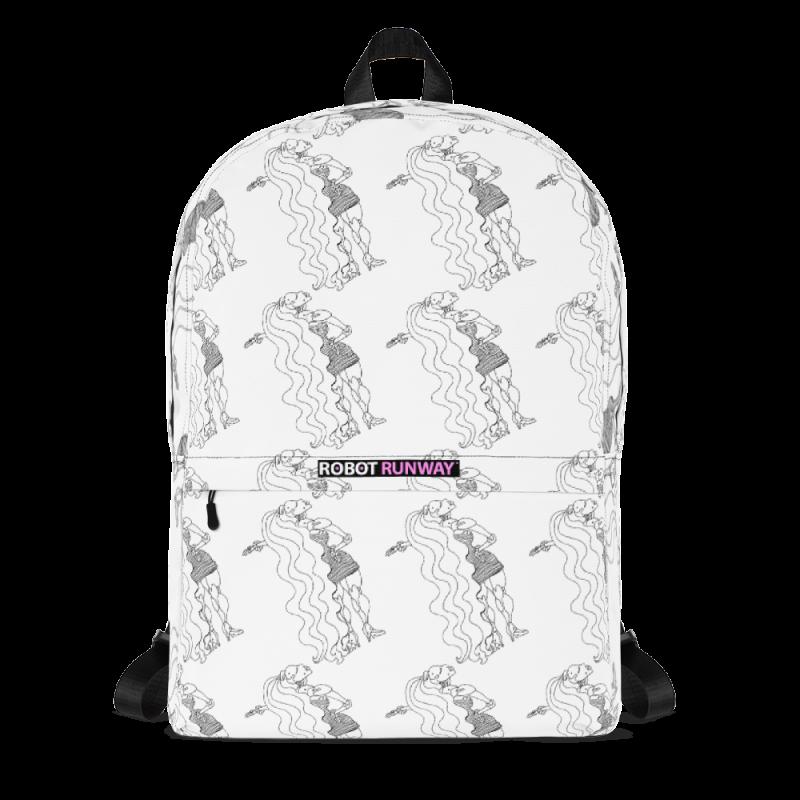 Robot Gifts Ideas - ROBOT RUNWAY Ladybot Black & White Motif Backpack