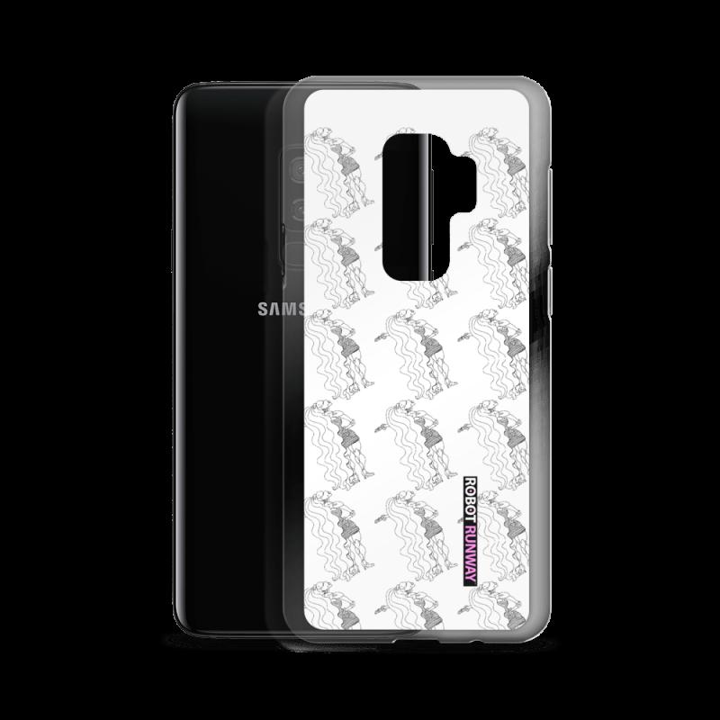 Robot Gifts Ideas - ROBOT RUNWAY Ladybot Black & White Motif Samsung Case
