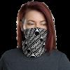 Robot Gifts Ideas - Robot Runway Black & White Motif Face Mask Neck Gaiter
